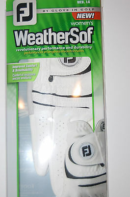 footjoy fj weathersof golf glove right white womens adult medium large NEW