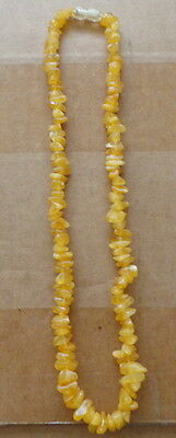 Antique Natural  butterscotch Baltic Amber Beads Necklace  #19s