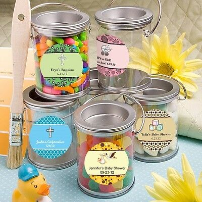 80 Personalized Mini Paint Cans Baby Shower Party Gift Favors