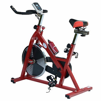 Soozier Indoor Cycling Bike Upright Stationary Bicycle Exercise Fitness w Bottle