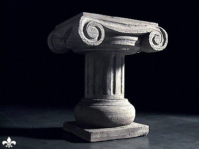 Italian Column Statue Pillar Table Stone Carved Stand