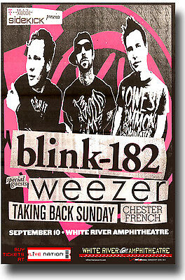 Blink 182 Poster - 2009 Reunion Tour Enema Of State