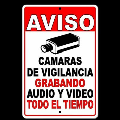 Property Protected By Video Surveillance Warning Security Camera  5 SIZES S060