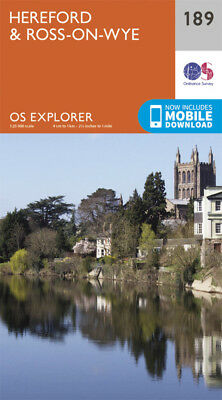 Hereford and Ross on Wye 189 Explorer Map Ordnance Survey With Digital Download