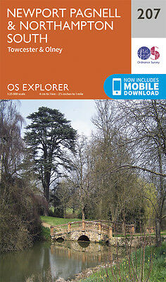 Newport Pagnell and Northampton South 207 Explorer Map Ordnance Survey 2015