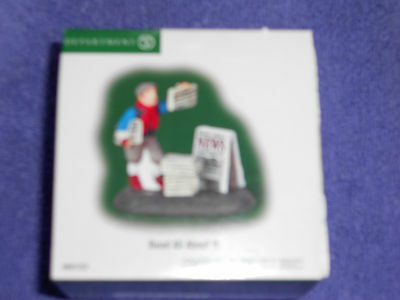 DEPT 56 CHRISTMAS IN THE CITY Accessory READ ALL ABOUT IT NIB