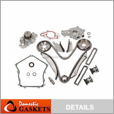 02-06 Chrysler Dodge 2.7L Timing Chain Water&Oil Pump Tensioner Kit+Cover Gasket