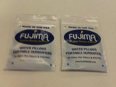 2X Fujima Water Pillows Portable Humidifiers Cigars Tobacco Humidity Control