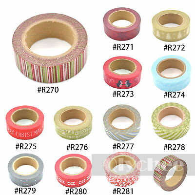 Christmas Washi Tape Scrapbooking Craft DIY Paper Sticky Adhesive Sticker Roll