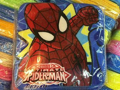 24pcs spider-man Square Hand Towel Face Towels Kids Gifts 20x20cm
