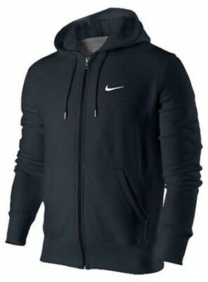 NIKE Herren Brushed Fleece Club Full Zip Hoody Sweatjacke Kapuze Blau NEU