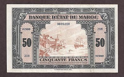 Morocco Ww2 1944 50 Francs - 9208