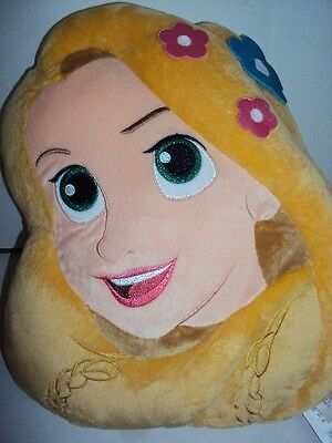"Disney Store Princess Rapunzel Tangled 12"" Plush Cushion - Nwt"