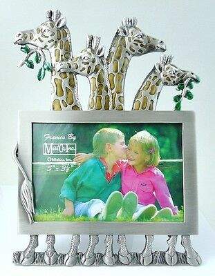 Lovely large  Giraffe Pewter  Picture - Photo Frame