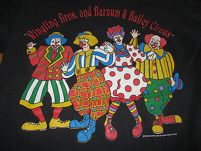 Vintage RINGLING BROS and BARNUM & BAILEY CIRCUS (MED) T-Shirt CLOWNS