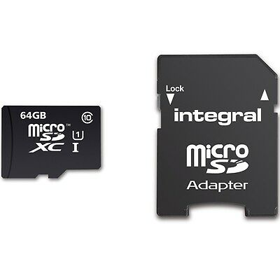 New Integral 64GB Ultima Pro Micro SDXC Memory Card UHS-I U1 Class 10 - 90MB/s