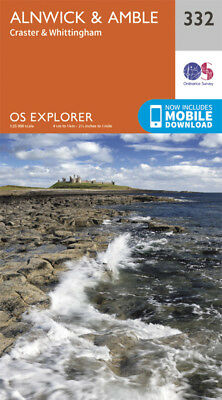Alnwick and Amble Craster and Whittingham Explorer Map 332 Ordnance Survey