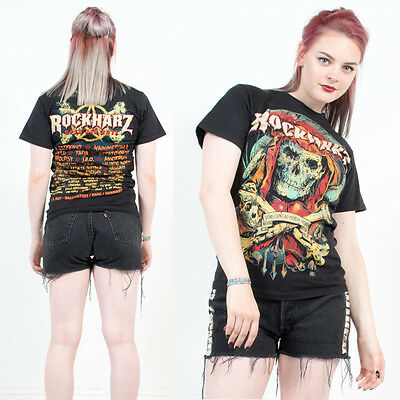 Retro Rockharz Rock Festival Grunge Metal Tour Black Crew Neck T-Shirt Top 8