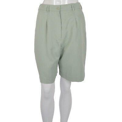 Tail Womens Ladies Knee Length Pleated Golf Shorts - Green - 8UK