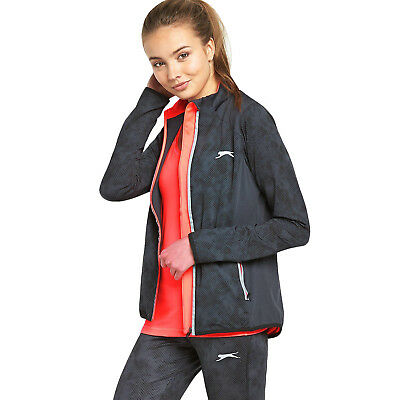 Slazenger Velocity Womens Running Jacket Lightweight Training Track Top