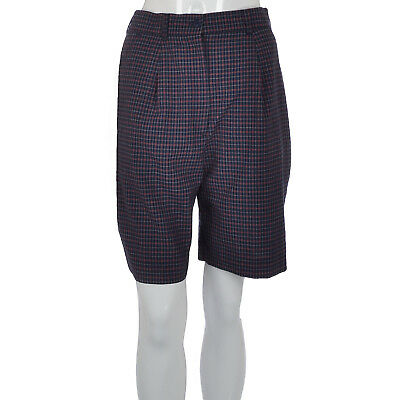 Tail Womens Ladies Knee Length Checked Pleated Golf Bottoms Shorts - Navy - 6UK