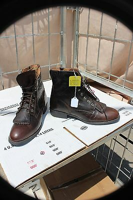 27-11 New Ariat womens 11B distressed brown leather laced riding boots