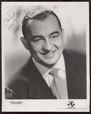 Freddy Martin  Signed 8x10 Photo Autographed Vintage AUTO Signature ORCHESTRA