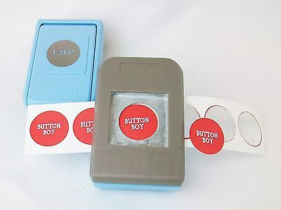 "1"" Button Boy Double Level Hand Held Punch - for 1"" buttons- cuts circles 1.313"""