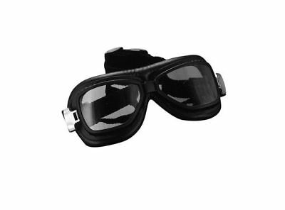 Red Baron Aviator/Flying Goggles with Curved Lens for Open Face Helmets