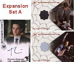 Spider-Man 3 Movie Expansion Set A with Maguire Autograph & 2 Costume Cards