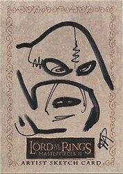 Lord of the Rings Masterpieces Series 2 Ryan Waterhouse Troll Sketch Card