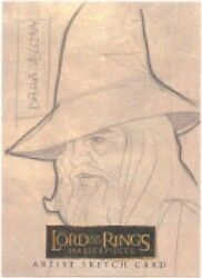 Lord of the Rings Masterpieces Vecchia Gandalf Sketch Card
