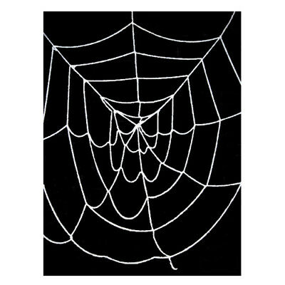 9.5' ft Deluxe Giant White Spider Web ~ HALLOWEEN SCARY PARTY DECORATION PROP