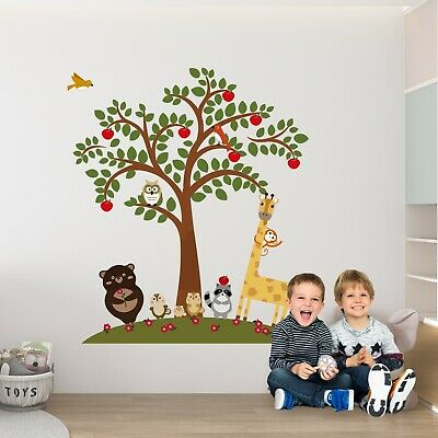 Wall Decoration Decal Mural Nursery Kids Sticker Animal Friends 152cm x 173.5cm