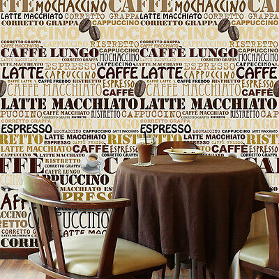 Paper Home Sticker Decoration Cafe Mural Decal Wall Coffee Art 183cm x 254cm