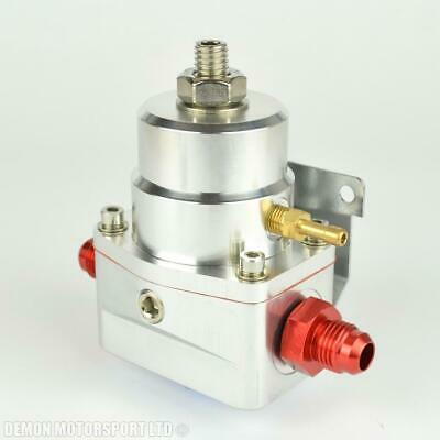 AN8 (JIC -8) Fuel Pressure Regulator Silver With 8AN Fittings 7 Bar 1:1