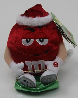 "M&M's M&M Red Wobblin' Toboggans ""Up on the Housetop"" NWT"
