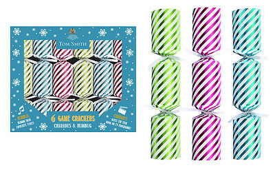 "6 x 8"" Mini Luxury Tom Smith Christmas Tree Crackers Novelty Games Crackers"