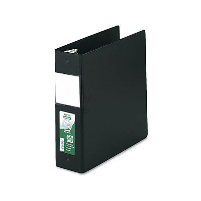 "Samsill Clean Touch Antimicrobial Locking Round Ring Binder 11x8.5 3"" Cap Black"