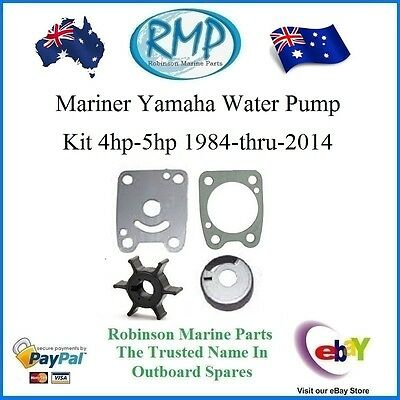 A New Water Pump Kit Suits Mariner Yamaha 4hp-5hp 1984-2014 # R 6E0-Kit