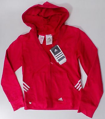 adidas 3-Str.Kapuzenjacke Tracksuit top cherry red 152