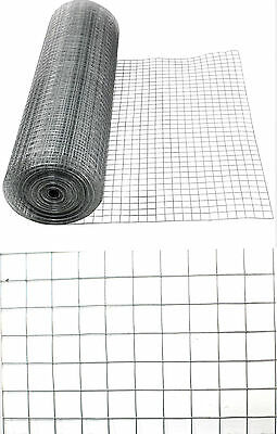 """1"""" X 1"""" Heavy Duty Wire Square Mesh Roll Large Chicken Coop Galvanised  Fence"""