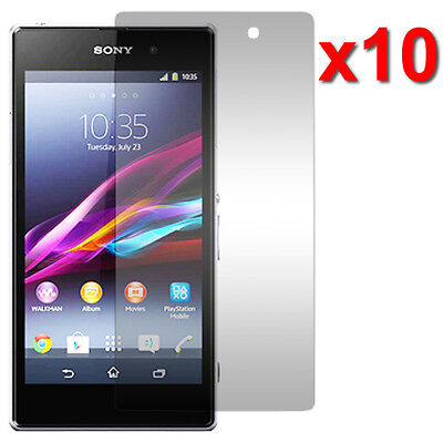 10X Crystal Clear LCD Screen Protector Film For Sony Xperia Z1 Phone Accessory