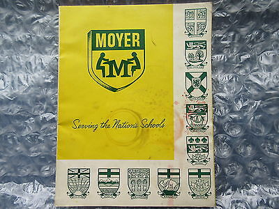 Old 1950's Moyer School Supplies Catalog catalogue