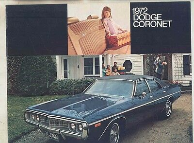 1972 Dodge Coronet Brochure my5449