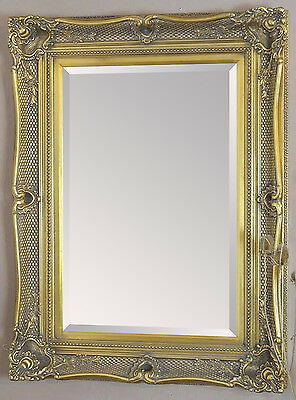 Antique Gold Decorative Wall Mirror  - Choice of Size & Frame Colour Choices