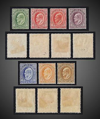 1904 -1907 Falkland King Edward Vii Incomplete Mint Hinged Issue Sc# 22-27