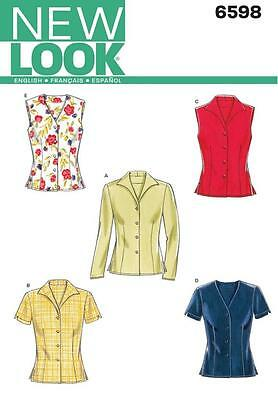 New Look Sewing Pattern Misses' Top Tops  Size 8 - 18  6598