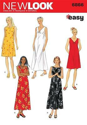 New Look Sewing Pattern Misses' Dress Dresses  Size S, M, L & Xl  6866