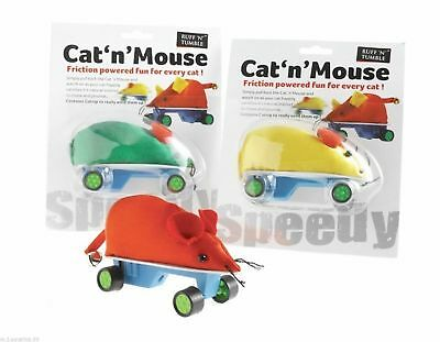 Cat N' Mouse Friction Powered Toy With Catnip